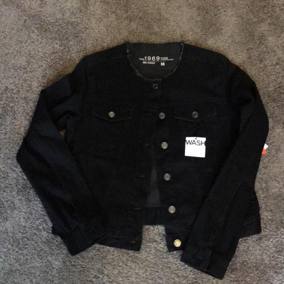 pretty cheap new season bright in luster Gap black denim jacket NWT
